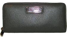 MARC JACOBS Aluminum Grain Leather Zip-Around Clutch Wallet NWT