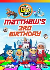 GO JETTERS - 10 personalised birthday invitations including envelope