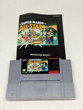 Super Mario All-Stars Super Nintendo SNES 1993 Game and Manual