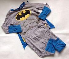 Boys 2-3 Years Tesco DC Batman Grey + Blue Pyjama Set Top + Bottoms + Cape