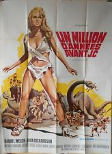 ONE MILLION YEARS B.C French 47x63 movie poster Raquel WELCH