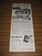 1951 Print Ad Johns-Manville Asbestos Siding for Houses New York,NY