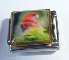 RED PARROT Italian Charm BR41 Macaw Bird fits ALL 9mm Classic Starter Bracelets