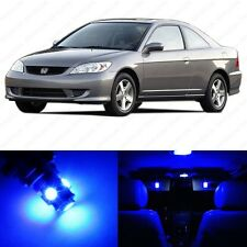 6 x Blue LED Lights Interior Package For Honda CIVIC 2001 - 2005 + Pry Tool