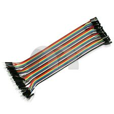 40PCS 20CM Dupont Wire Cables Line Jumper Connector 1P-1Pin Male To Female USA