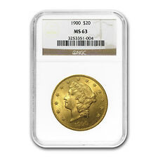 $20 Liberty Double Eagle Gold Coin - Random Year - MS-63 NGC