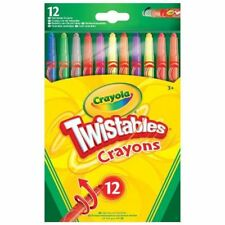 12 Crayola Twistable Wax Crayons Twist Up Colouring Child Art Craft Drawing
