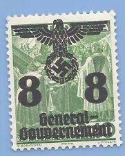 Germany Nazi Third Reich 1940 Occupation Poland Swastika Eagle 8 Stamp WW2 ERA