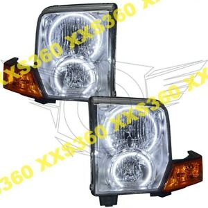 ORACLE Halo 2x HEADLIGHTS for Jeep Commander 06-10 WHITE LED Angel Demon Eyes