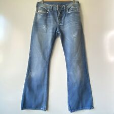 Diesel Mens Jeans Size 29 Boot Cut Button Fly Distressed Denim Made In Italy