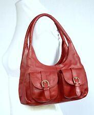 DEBENHAMS COLLECTION SOFT, DEEP RED LEATHER HOBO / TOTE / GRAB BAG , Medium Size
