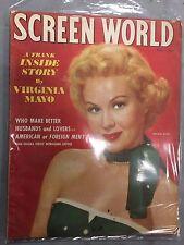 SCREEN WORLD AUGUST 1954 VIRGINIA MAYO URSULA THEISS EXPOSE