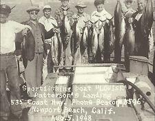 "NEWPORT BEACH Sport Fishing Boat Louise Ad VINTAGE Photo Print 1475 11"" x 14"""