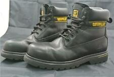 CATERPILLAR HIGH ANKLE BOOTS SIZE 8 UK SHOES CAT WORK BLACK  LEATHER STEEL TOE