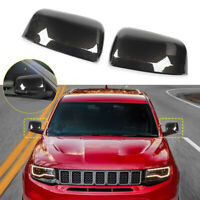Carbon Fiber Side Rear View Mirror Trim Cover For Jeep Grand Cherokee 2011-2016