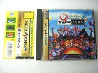 Shin Theme Park Sega Saturn Japan Game w/Obi