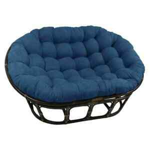 Blazing Needles Papasan Cushion 65 Inch Double Indoor Outdoor New Sea Blue Teal
