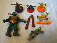 x6 TMNT Toy Lot Teenage Mutant Ninja Turtles Figurine Figure Mini Mcdonalds Kids