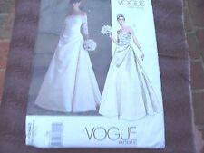Vogue 2842 bridal original strapless  wedding gown Sewing Pattern size 18-20-22