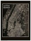Blueprint Plan of New York and Brooklyn 1867 by Beer 16x12 Art Print Map