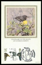 GB UK MK CHARLES DARWIN FINKEN FINK VÖGEL BIRDS CARTE MAXIMUM CARD MC ba96