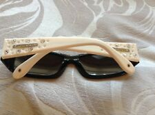 Pilgrim Black Cream Diamante Sunglasses