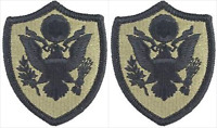 2 Pack Dept of Defense (DOD) OCP Scorpion Hook Back Military Patches