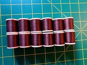 American Thread Star Mercerized 12 Spools 552 Brown Sewing Thread Vintage