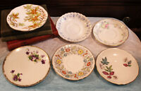 Vintage Lot of 6 Bone China Saucers Taylor & Kent Old Royal Albert Vale Stafford