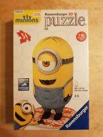 Minion Shaped 54pc 3D Jigsaw Puzzle (Ravensburger) - NEW & Sealed