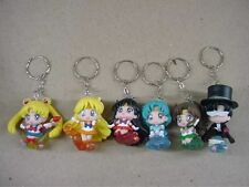 Sailor moon anime character cute mini figure Key chains set 6pcs aq