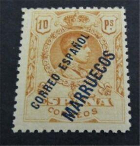nystamps Spanish Morocco Stamp # 25 Mint OG H $95    L23y1030