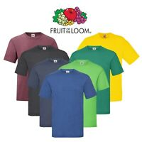 5 or 3 Pack Mens Fruit Of The Loom T Shirt Cotton Plain Tee Shirts S-5XL