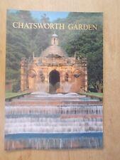 CHATSWORTH GARDENS DERBYSHIRE - TOURIST GUIDE HANDBOOK BROCHURE