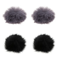 4Pcs Fur Microphone Windscreen Windshield Muff Reduce Wind Noise Mic Cover