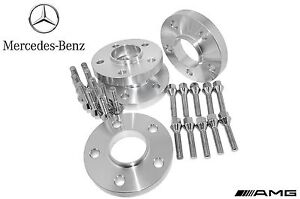 4 Pc Set Of Mercedes Benz ( 20 mm Thick ) Hub-Centric Wheel Spacers W/ Lug Bolts
