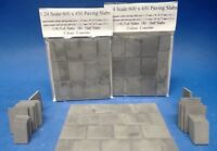 1:24 Scale  Diorama Accessories  600 x 450 Paving Slabs in Gray