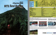 Ford 1972 - 1972 Ford Bronco, All-Purpose 4-Wheel-Drive Vehicles
