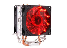 GX7 4 PIN PWM Red LED CPU Cooler Fan & Heatsink Dual Heatpipe for 775 115X 1366