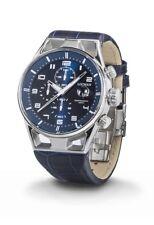 Orologio Locman Montecristo 0542a02s-00blwhpb Watch Pelle Blu Cronografo Uomo