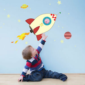 Peppa and George in space wall stickers pack   Official Peppa Pig wall stickers