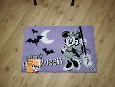 """Disney Minnie Mouse Witch  Halloween Decoration Outdoor Mat Rug 18"""" x 28"""" New"""