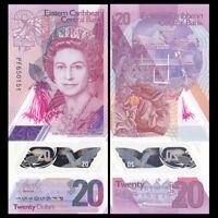 East Caribbean 20 Dollars, 2019, P-57, Queen II, Banknotes, UNC