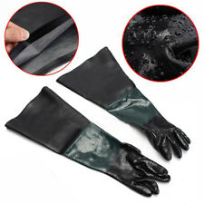 Pair 60cm 1 Gloves Of Heavy Duty Black Replacement For Sand Blast Cabinet Tool