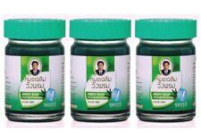 50g x 3pc -  WANGPHROM WANG PROM - Herbal Green Balm Massage Relief Pain Sprains