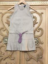 Girls Navy S//S Button Collar School Uniform Dress Sz M 10//12 NWT U.S Polo Assn