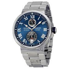 Ulysse Nardin Marine Chronometer Blue Dial Mens Watch 1183-126-7M-43
