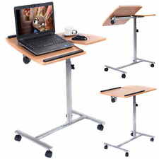 Table ordinateur portable réglable Table lit à roulettes Table d'appoint