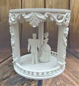 "WHITE HAND MADE PRINCESS FAIRY TALE CINDERELLA WEDDING CAKE SEPERATER  6"""