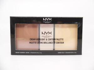 NYX PROFESSIONAL MAKEUP Cream Highlight & Contour Palette, Light